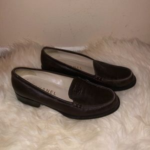 Vintage Chanel penny loafers